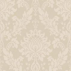 Clara Wallpaper in Mink with a Damask finish by Opus