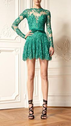 Gorgeous green lace dress