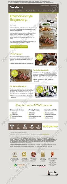 Company:  Waitrose Ltd Subject:  Inspirational ideas for effortless entertaining this winter               INBOXVISION providing email design ideas and email marketing intelligence.