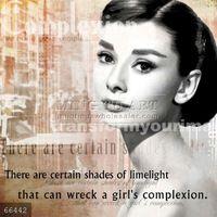 Handmade Audrey Hepburn portrait pop art painting on canvas, Audrey Hepburn