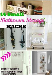Small bathroom organization ideas for small space design, small bathrooms, apartments and for when you need storage because you're sharing with others. #bathroom #smallbathroom #organization #storage