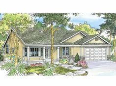 Eplans Ranch House Plan - Three Bedroom Ranch - 1802 Square Feet and 3 Bedrooms from Eplans - House Plan Code HWEPL66746