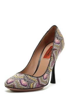 Missoni Fabric Print High Heel