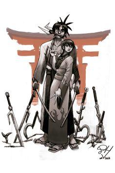 Blade - A Lâmina do Imortal, no traço do intrutor Denis de Vitro! Ele dá aulas na AreaE de 6ª feira e sábado.