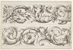 Twee friezen met bladranken |Lepautre, Jean