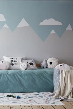 Cotton Twill Cushion Cover Cotton Twill Cushion Cover – Light gray/polar bear – Home All Baby Room Decor, Nursery Decor, Bedroom Decorating Tips, Bedroom Ideas, Decorating Ideas, Large Storage Baskets, White Carpet, Kids Room Design, Boy Room