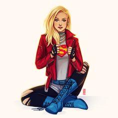 Kara Kent - Jen Bartel After Kevin Wada supergirl Héros Dc Comics, Heros Comics, Dc Comics Characters, Comics Girls, Dc Heroes, Female Characters, Fictional Characters, Batwoman, Batgirl
