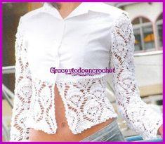 Grace y todo en Crochet: Recycle your blouse...Recicla tu blusa!