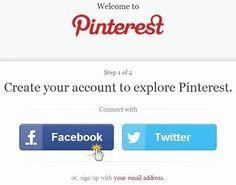 Přihlášení do systému Pinterest je jednoduché