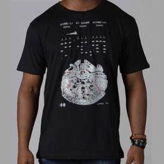 0a9ee1ad38 Camiseta Falcon Space Smuggler - Brilha no Escuro