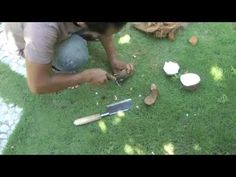 How To Open A Mature Coconut, Ep85 - YouTube