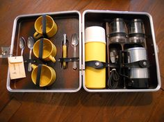 this is so cool!!!    Londonaire Portable Pub Traveling Coffee Set by MidCenturyGirls, $45.00