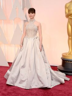 Felicity Jones Oscars red carpet