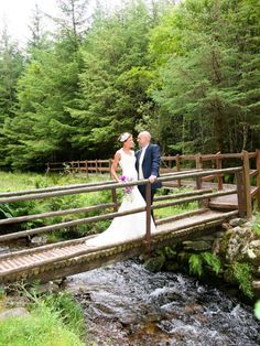 Gougane Barra Forest Park Wedding Photo #romantic #love #gouganebarra #ireland #nature #forest #brideandgroom