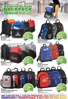 Back to School Deals on Custom Logo Backpacks!