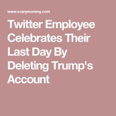Twitter Employee Celebrates Their Last Day By Deleting Trump's Account