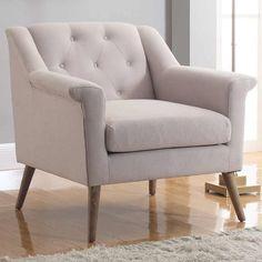 Julian Joseph Manhattan Accent Chair, Natural Linen high-class comfort cotton