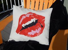 JUST MY TYPE outdoor 20 50cm pillow fangs Halloween by crabbychris