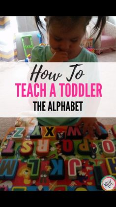 How to Teach the Alphabet to Your Toddler. 5 Easy ways to teach the alphabet to your toddler. Several easy ways for teaching toddler letters! Our daughter did these and knew her alphabet by years old. Teaching Toddlers Letters, Teaching The Alphabet, Toddler Learning Activities, Indoor Activities For Kids, Alphabet Activities, Literacy Activities, Kids Learning, Abc Games For Toddlers, Parenting Toddlers