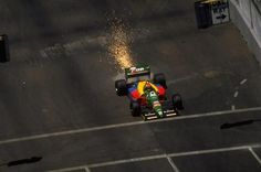 F1 Pictures Johnny Herbert  Benetton - Ford  Phoenix 1989