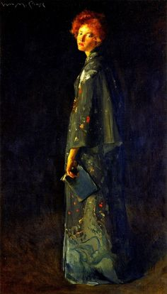 Girl with a Book (1902).William Merritt Chase(American, 1849-1916).Oil on canvas.Montgomery Museum of Fine Arts.