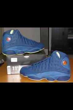 Nike AIR JORDAN 13 XIII RETRO SQUADRON BLUE ELECTRIC YELLOW BLACK Size 11.5 CORK #Sneakers