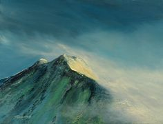 Arran Peaks by Scottish contemporary landscape painter J Mackintosh Isle Of Arran, Contemporary Landscape, Garden Landscaping, How To Look Better, Mountains, Art Paintings, Watercolour, Travel, Gardening