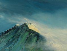 Arran Peaks by Scottish contemporary landscape painter J Mackintosh