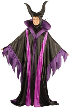 Description #00922 This scary Maleficent Costume features the full length gown and the matching headpiece. Size: Adult STD