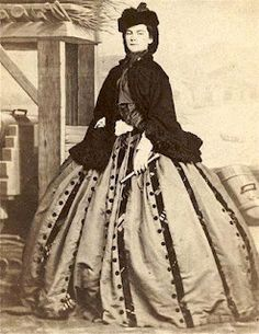 Empress Elisabeth of Austria. Its interesting how all the stripes have   a different design on them.