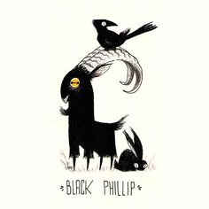 Stuart Marcelo The Witch e seu… Black Phillip! Dark Art Drawings, Animal Drawings, Art And Illustration, Dessin Old School, Black Phillip, Desenho Tattoo, Arte Horror, The Witcher, Coven