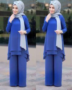 """118 Beğenme, 1 Yorum - Instagram'da Şal Dünyası (@saldunyasii_): """"hanımlar tunik ve pantolon dan oluşan yepyeni takımımız yeniden stoklarda tabiki 1. Sınıf…"""" Street Hijab Fashion, Abaya Fashion, Modest Fashion, Fashion Outfits, Muslim Women Fashion, Islamic Fashion, Hijab Style, Hijab Chic, Hijab Outfit"""