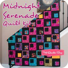 Midnight Serenade Quilt Kit Featuring Laurel Burch Fabrics