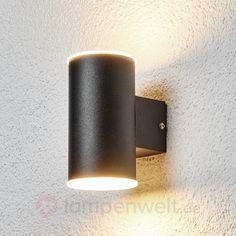 Effektvolle LED-Außenwandleuchte Morena sicher & bequem online bestellen bei Lampenwelt.de.