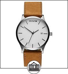 MVMT Reloj de pulsera para hombre, esfera blanca, correa de piel de color marrón claro - MC01WT de  ✿ Relojes para hombre - (Gama media/alta) ✿