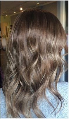 natural brunette hair color with subtle highlights - before and after blog