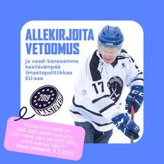 Sauli Niinistö tukee Ilmastoveivi 2019 -kampanjaa Baseball Cards, Sports, Hs Sports, Excercise, Sport, Exercise