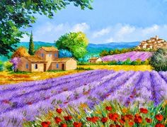 Jean Marc Janiaczyk French painter Dreaming of Provence Watercolor Landscape, Landscape Art, Landscape Paintings, Watercolor Paintings, Beautiful Paintings, Beautiful Landscapes, Images D'art, Tuscany Landscape, Image Nature