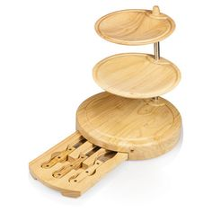 4-Piece Harrison Bamboo Serving Board and Knife Set  at Joss and Main