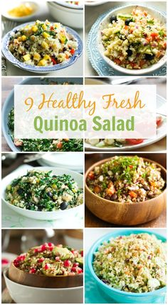 9 Healthy Fresh Quinoa Salad - Take a look at this awesome round-up of my favorite 9 healthy fresh quinoa salads. These salads are loaded with nutrients and delicious ingredients that you want to dive into. | primaverakitchen.com