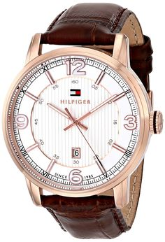 Tommy Hilfiger Men's 1710346 Analog Display Quartz Brown Watch ** See this great product.