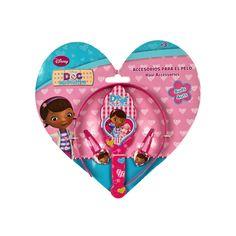 Accesorios para el pelo de Doctora Juguetes: dos ganchos, un cepillo y una diadema. Para las niñas más coquetas. 6,95 euros en Tino&Tina.