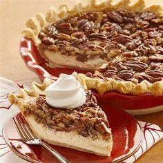 Vanilla Pecan Pie: Cheesecake meets pecan pie in this smooth and decadent seasonal dessert.