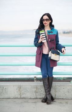 Marc by Marc Jacobs Coat, Tommy Hilfiger Bag, Los Angeles Fashion Blogger, Winter Style, Manhattan Beach Pier