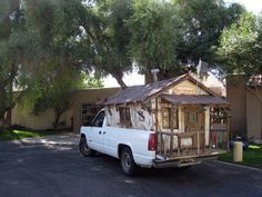 A house built into the bed of a pickup truck. photo by Dru Bloomfield - At Home in Scottsdale on Flickr