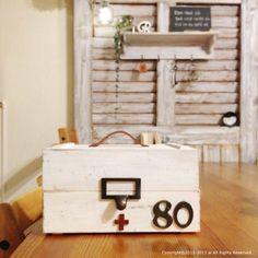 木箱+ネームプレート