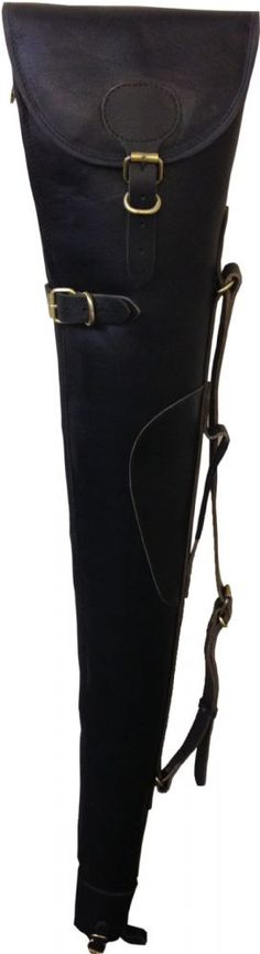 John Shooter Leather Shotgun Slip - Black Manufactured from thick black distressed leather this shot gun slip features a full length zip thick lamb