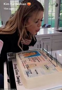 All over: Khloe Kardashian marked legally no longer being known as Khloe Kardashian-Odom with a big cake on Thursday
