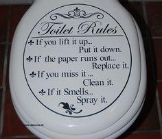 'Toilet Rules voor toiletbril'