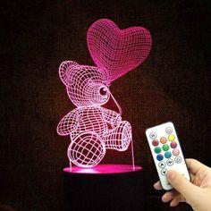 Toys & Hobbies Whistling Wolf Animal Figure Flash Model 3d Illusion Led Nightlight Luminous Colorful Changing Light Desk Lamp Model Toys